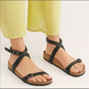 Birkenstock Daloa Ankle Strap Sandal in Black